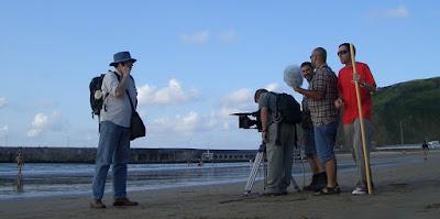 foto de rodaje en playa