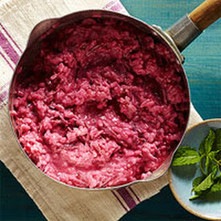 Creamy Beet & Goat Cheese Risotto