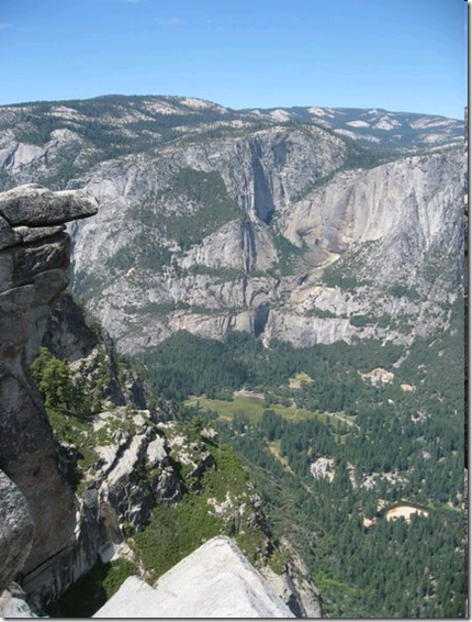 Yosemite Glacier Point views, famous overhang rock