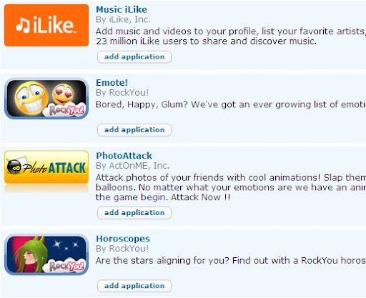 Orkut Applications