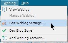 Weblog Menu