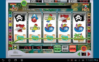 Screenshot of Mega Pirates Slot Machine