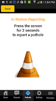 Screenshot of Pothole Alert 311