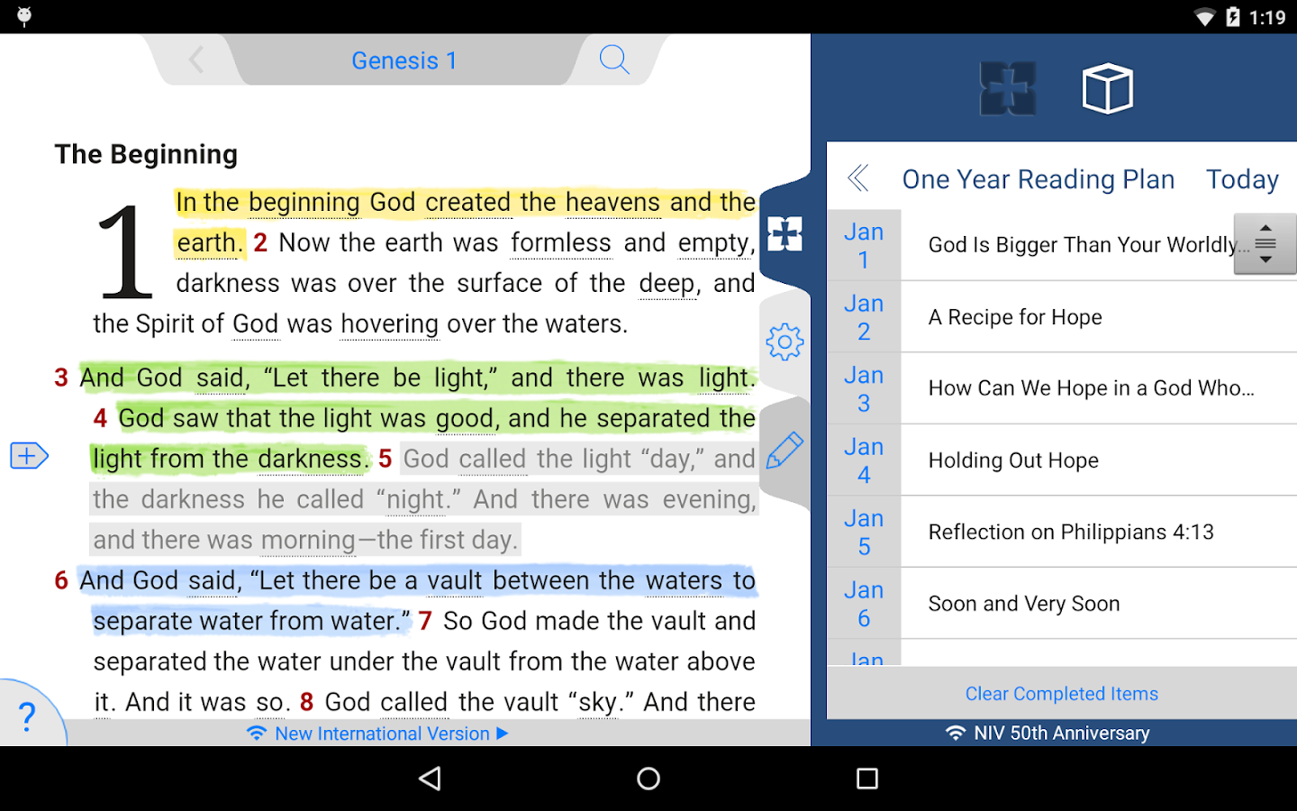 NIV 50th Anniversary Bible Screenshot 17