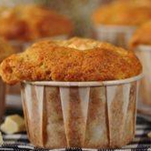 Banana Muffins with White Chocolate Recipe & Video