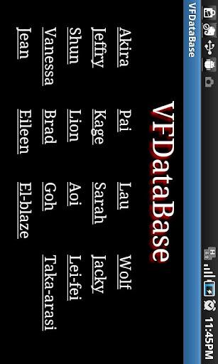 VFDatabase for English