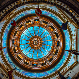 Capital Dome by D Clark  / B  Worthington - Buildings & Architecture Other Interior ( hdr, rotunda, topeka, statehouse, dome, capital, kansas )