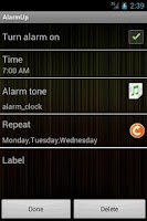 Screenshot of Alarm Up