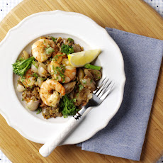 Prawn, Shallot, Tenderstem and Freekeh Salad