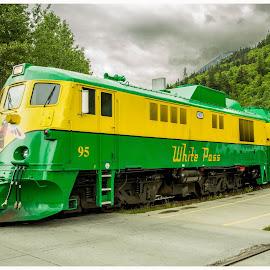 White Pass Train by Scott Niccolls - Landscapes Travel ( mountains, canada, skayway, snow, alaska, train, white pass )