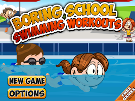 Screenshot of Boring School Swimming Workout