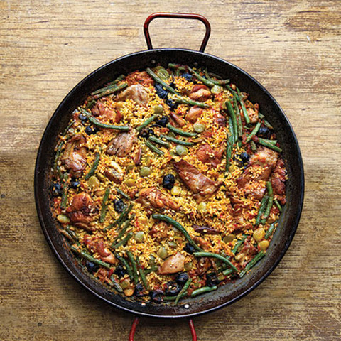 Paella with Rabbit and Snails (Paella Valenciana)