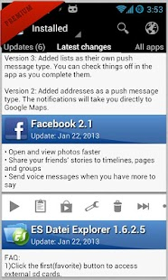 Changelog Droid Screenshot