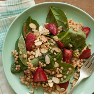 Roasted Strawberry Spinach Salad
