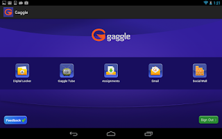 Screenshot of Gaggle