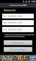 Screenshot of Call History Backup (FREE)