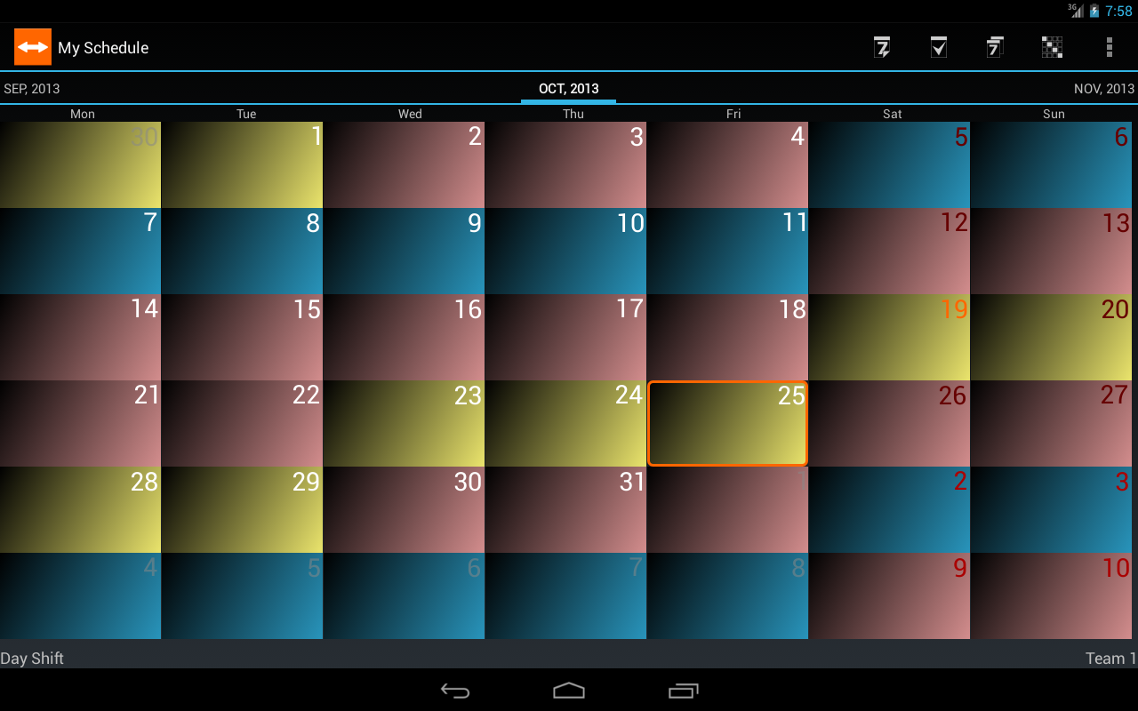 Shift Schedule + Alarm Clock Screenshot 7