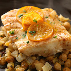 Steamed Fish with Chickpeas and Currants