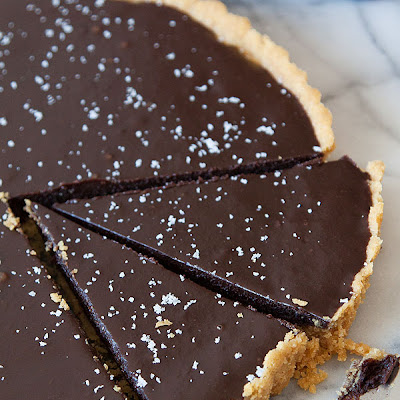 Salted Chocolate Tart with Potato-Chip Crust
