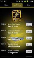 Screenshot of 95.5 BOB-FM 80's, 90's