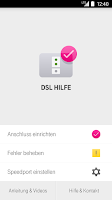Screenshot of DSL Hilfe