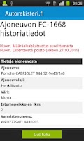Screenshot of Autorekisteri.fi - Kenen auto?