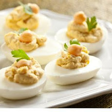 Chickpea Deviled Eggs