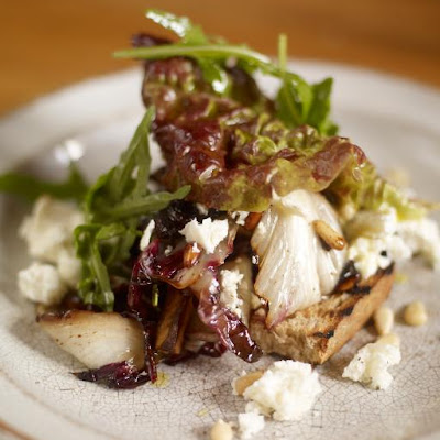Warm Winter Salad Of Radicchio With Wild Rocket & Feta