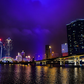 Macau night by Nuno Yeong - City,  Street & Park  Night ( macau, night,  )