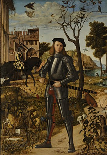 Young Knight in a Landscape, Vittore Carpaccio