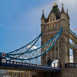 Tower Bridge by Brandon Satinsky - Buildings & Architecture Bridges & Suspended Structures ( england, london, tower bridge, architecture, bridge )
