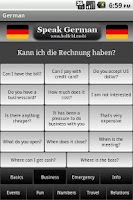 Screenshot of Speak German