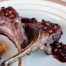 Grilled Lamb Chops with Pomegranate-Port Reduction