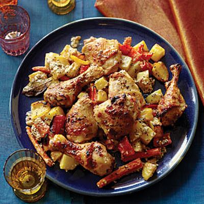 Bengali Five-Spice Roasted Chicken and Vegetables