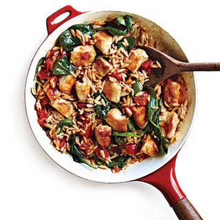 Chicken and Orzo Skillet Dinner