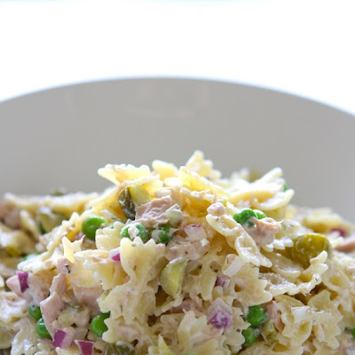 Tuna Pasta Salad with Dill & Peas
