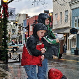 Candy collectors by Paul Brumit - Babies & Children Children Candids ( parade, candy, street, children, virginia, town, west )