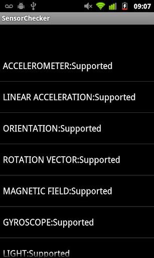 Sensor Status