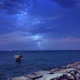 Storm over water by Bridget Wegrzyn - Landscapes Weather (  )