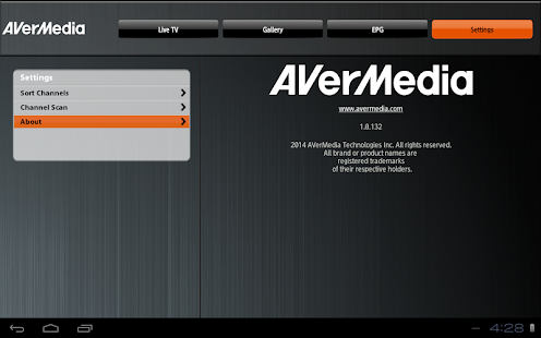 AverTV Mobile Screenshot