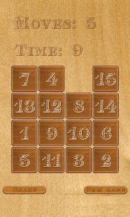 Number Slider Puzzle - screenshot