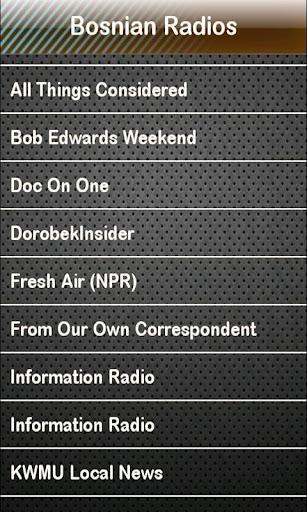 Bosnian Radio Bosnian Radios