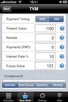 Screenshot of Financial Calculator Trial