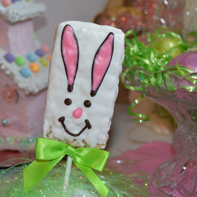Rice Krispie Bunny Treat on a Stick