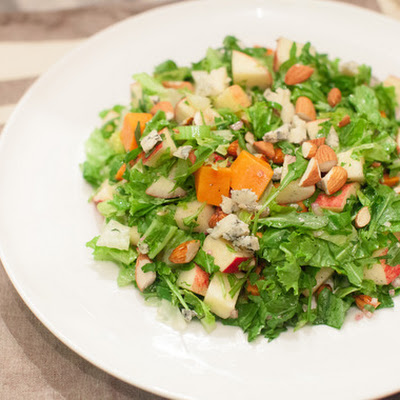 Chopped Salad with Apples, Sweet Potato, Blue Cheese & Cider Vinaigrette