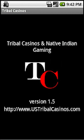 Screenshot of Tribal Casinos Indian Gaming