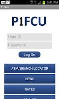 Screenshot of P1FCU Mobile Banking