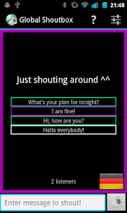 Global Shoutbox - Not A Chat! - screenshot