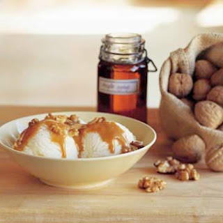 Vanilla Ice Cream with Maple-Walnut Sauce