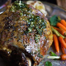 Tender Leg of Lamb Roast with Flavorful Mint Pesto